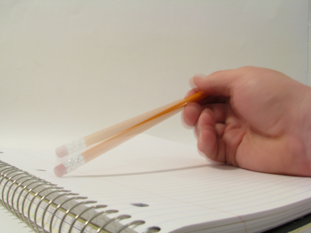 Tapping a pencil (by Rennett Stowe)